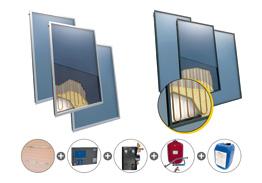 Flat-panel collectors