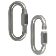 Chain quick-action closures in stainless steel