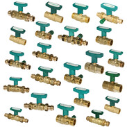 Ball valves with ISO T-handle