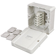 Hensel cable junction box 5-p terminal 1.5-2-5 mm² 3phase, 4 mm² 1phase