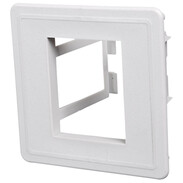Universal bracket UTE-2 light grey RAL 7035, for housing fronts