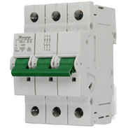 Miniature circuit breaker 6 A B characteristic 3-pole 10kA