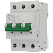 Miniature circuit breaker 16 A B characteristic 3-pole 10kA