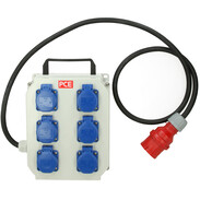 mobile distribution box Lofer4 6x Schuko sockets