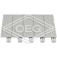 Legrand Plexo³ blanking plates light grey, separable into 5 modules