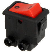 Interbär Rocker switch, black/red type 8004, 0 - I 800400501