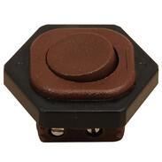 Interbär Rocker switch, brown type 8014/6A