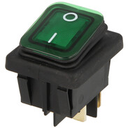 Interbär Rocker switch, green type 3627 illuminated, IP65, 0 - I
