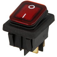 Interbär Rocker switch, red type 3627 illuminated, IP65, 0 - I
