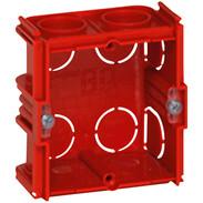 Flush-mounted box D:30 mm screw/claw fixing 2-module  horizontal/vertical 80131