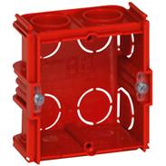Flush-mounted box D:40 mm screw/claw fixing 2-module  horizontal/vertical 80141