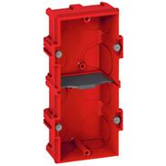 2gang FM box 4/5 modules D:40 mm vertical/horizontal screw/claw fixing 80142