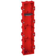4gang FM box 8/10 modules D:40 mm vertical/horizontal screw/claw fixing 80144