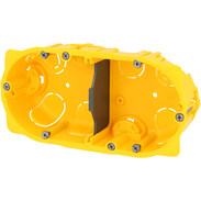 2gang hollow wall box 4/5 modules D: 40 mm screw/claw fixing 80042