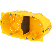 2gang hollow wall box 4/5 modules screw/claw fixing 80052