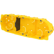 3gang hollow wall box 6/8 modules D: 40 mm screw/claw fixing 80043