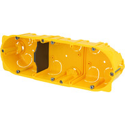 3gang hollow wall box 6/8 modules D: 50 mm screw/claw fixing 80053
