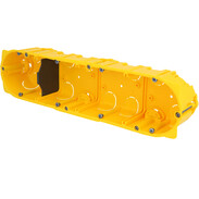 4gang hollow wall box 8/10 modules D: 50 mm screw/claw fixing 80054