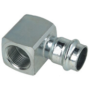 "C-steel pressfitting female elbow 90° short radius 28 mm x 1/2"" F/IT contour V"