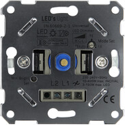 Universal LED dimmer for switch programmes