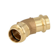 Press fitting gunmetal elbow 45° 35 mm  F/F (SC contour) 116156