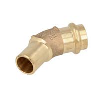 Press fitting gunmetal elbow 45° 35 mm  F/M (SC contour) 121594