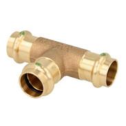 Press fitting gunmetal T-piece reduced 35 x 28 x 28 mm  F/F/F (SC contour)