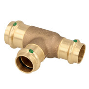 Press fitting gunmetal T-piece reduced 22 x 18 x 18 mm  F/F/F  (SC contour)