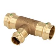 Press fitting gunmetal T-piece reduced 22 x 18 x 22 mm F/F/F (SC contour)
