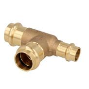 Press fitting gunmetal T-piece reduced 28 x 28 x 15 mm F/F/F  (SC contour)