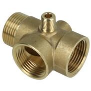 Coupling type 5-way brass