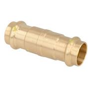 Gas pressfitting gunmetal sliding coupling 28 mm F/F V contour