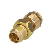 "Gas press fitting gunmetal screw fitting conical seal 54 x 2"" IT"
