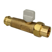 """Gas connection ball valve 1/2"""" x Profipress G, straight, heat-activated"""