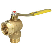 """Corner ball valve gas 1"""" with TSS for two-pipe gas meters"""