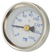 Flow thermometer blue for Solarbloc Maxi