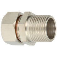 Crimped screw connection