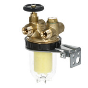 Oventrop Heating oil filter two-pipe Oilpur with isolating valve 2120561
