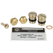 Nozzle replacement set