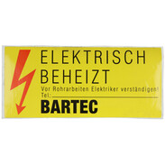 Designation plate, KZS, for Bartec heating band