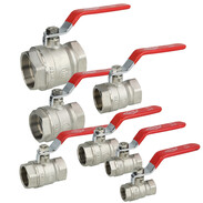 Brass ball valves with steel lever