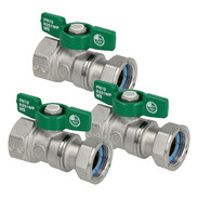 Drinking water ball valves with wing handle IT/union nut