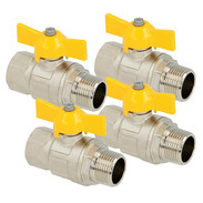 Gas ball valve with butterfly handle ET/IT
