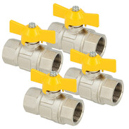 Gas ball valve with butterfly handle IT/IT