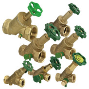 Free-flow valves with non-rising stem with draining
