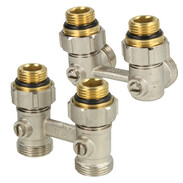Double connection fittings without bypass