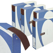 Abrasives in tear-off box for metal