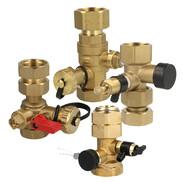 Cap valves for expansion vessels
