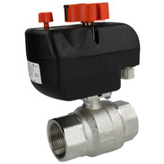 "Motorised ball valve 1 1/2"" IT with mounting flange"