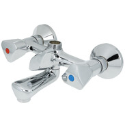 Two-handle bath mixer chrome-plated brass, without set